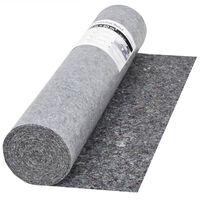 vidaXL Nedrseča zaščitna podloga 50 m 280 g/m² siva
