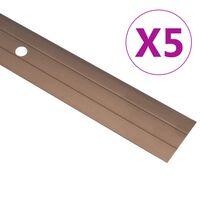 vidaXL Talni profili 5 kosov aluminij 90 cm rjavi