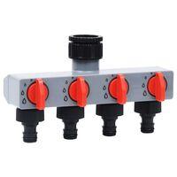 vidaXL Avtomatski časovnik za zalivanje s 4-smernim ventilom