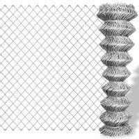 vidaXL Mrežna ograja pocinkano jeklo 15x1,5 m srebrna