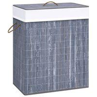vidaXL Košara za perilo iz bambusa siva 83 L