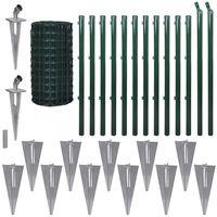 vidaXL Evro ograja iz jekla 25x0,8 m zelena