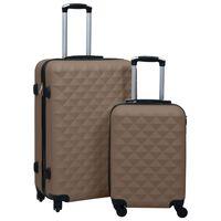 vidaXL Trdi potovalni kovčki 2 kosa rjavi ABS