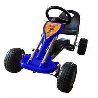 vidaXL Gokart na pedale modre barve