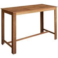 vidaXL Barska miza iz trdnega akacijevega lesa 150x70x105 cm