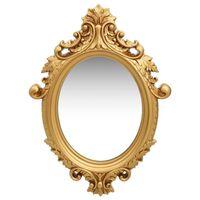 vidaXL Stensko ogledalo v grajskem stilu 56x76 cm zlato