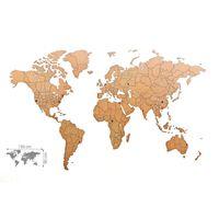 MiMi Innovations Zemljevid sveta Luxury sestavljanka rjav 150x90 cm