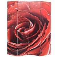 vidaXL Zložljiv paravan 160x170 cm vrtnica rdeč