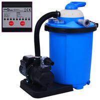 vidaXL Črpalka s peščenim filtrom in časovnikom 550 W 50 L