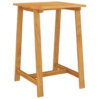 vidaXL Garden Bar Table 70x70x104 cm Solid Acacia Wood