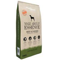 vidaXL Premium hrana za pse Maxi Adult Essence Beef & Chicken 15 kg