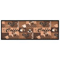 vidaXL Kitchen Carpet Washable Coffee brown 60x180 cm