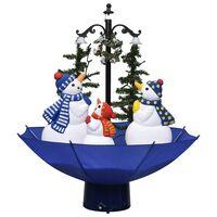 vidaXL Novoletna jelka s sneženjem in podstavkom modra 75 cm PVC