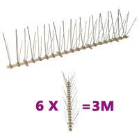 vidaXL Plastične bodice proti pticam in golobom 5-vrst 6 kosov 3 m