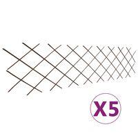 vidaXL Mrežaste ograje iz vrbe 5 kosov 180x60 cm