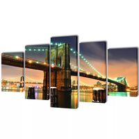 Set platen s printom Brooklynskega mostu 100 x 50 cm