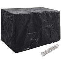 vidaXL Pokrivalo za vrtno pohištvo z 8 obročki 140x70x90 cm