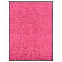 vidaXL Pralni predpražnik roza 90x120 cm