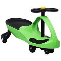 vidaXL Otroški vrtljiv avtomobil s hupo zelene barve