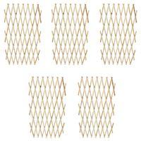 vidaXL Raztegljiva ograja 6 kosov trden les 180x90 cm
