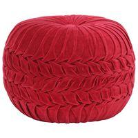vidaXL Tabure iz bombažnega žameta vezeni dizajn 40x30 cm rdeč