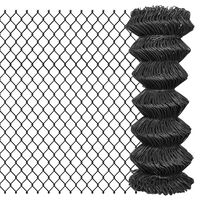 vidaXL Verižna ograja iz jekla 25x1 m siva