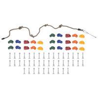 vidaXL Plezalni oprimki z vrvjo 25 kosov večbarvni