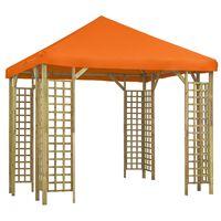 vidaXL Paviljon 3x3 m oranžen