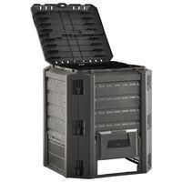 vidaXL Vrtni kompostnik črn 380 L