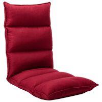 vidaXL Zložljiv stol / blazina vinsko rdeče blago