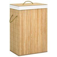 vidaXL Košara za perilo iz bambusa 72 L