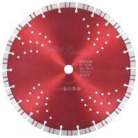 vidaXL Diamantni rezalni disk s turbo in luknjami iz jekla 300 mm
