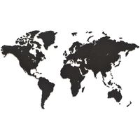 MiMi Innovations Lesen zemljevid sveta Luxury črn 90x54 cm