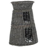 vidaXL Mačja košara 3-delna z blazinami siva 47x34x60 cm naravna vrba