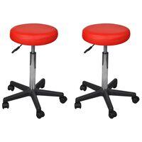 vidaXL Pisarniški stolčki 2 kosa umetno usnje 35,5x98 cm rdeči