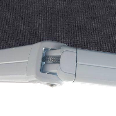 vidaXL Motorizirana kasetna tenda 350 cm antracitna