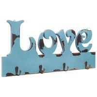 vidaXL Stenski obešalnik za plašče LOVE 50x23 cm