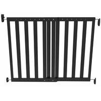 Noma Raztegljiva varnostna vrata 63,5-106 cm les črne barve 93743