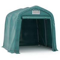 vidaXL Garažni šotor PVC 1,6x2,4 m zelen