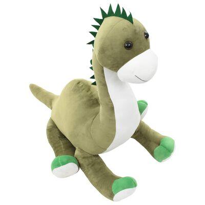 vidaXL Plišasta igrača dinozaver brontozaver zelen