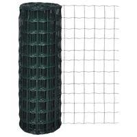 vidaXL Evro ograja iz jekla 10 x 1,5 m zelena
