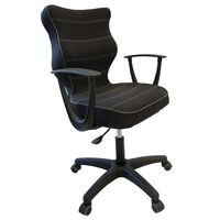 Entelo Ergonomski pisarniški stol NORM črn BA-B-6-B-C-FC01-B