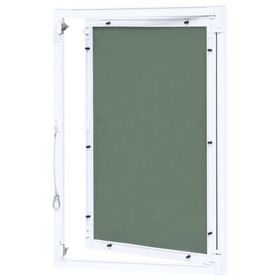 vidaXL Revizijska vrata z alu okvirjem in mavčno ploščo 400x600 mm