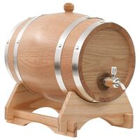 vidaXL Sod za vino s pipo trdna hrastovina 6 L