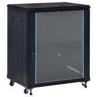 "vidaXL Omrežna omarica 18U z nogami 19"" IP20 800x600x1000 mm"