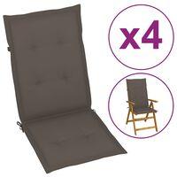vidaXL Blazine za vrtne stole 4 kosi taupe 120x50x4 cm