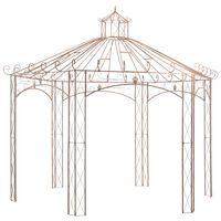 vidaXL Vrtni paviljon antično rjav 4 m železen
