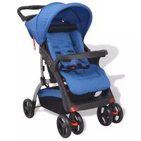 vidaXL Otroški voziček moder 102x52x100 cm