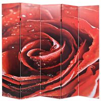 vidaXL Zložljiv paravan 200x170 cm vrtnica rdeč