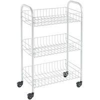 Metaltex Kuhinjski voziček s 3 košarami Siena bel